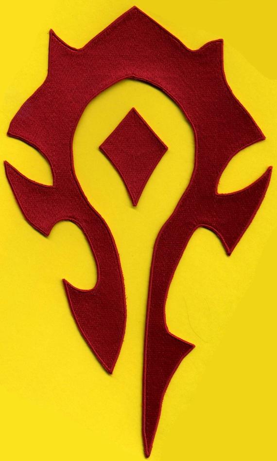 World of Warcraft HORDE Logo Patch 7 x 11.5