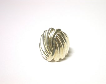 Vintage Sterling Silver Wide Ring - Size 6.5 - Weight 10 Grams - Large Sterling Ring