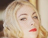Jade - Old Hollywood Crystal Birdcage Veil