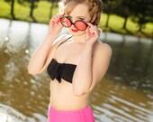 Minnie Basic Bow High Waist Halter Two-Piece Bikini