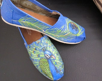 Peafowl Themed Shoes