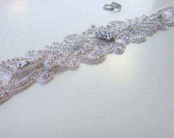 Vintage Bridal Sash, Bridal Belt, Bridal Sash, Bridal Sash Belt, Wedding Belt, Swarovski Crystal, Vintage Bridal Belt, Rhinestone bridal