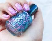 Handmade nail polish, nail lacquer, gliter nail polish, custom nail polish 15ml