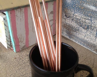copper straw, copper, handmade