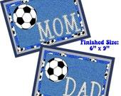 MUG RUG PATTERN Soccer Mom (and Dad)  Mug Rug / Mini Quilt Pattern (Instant Digital Download)