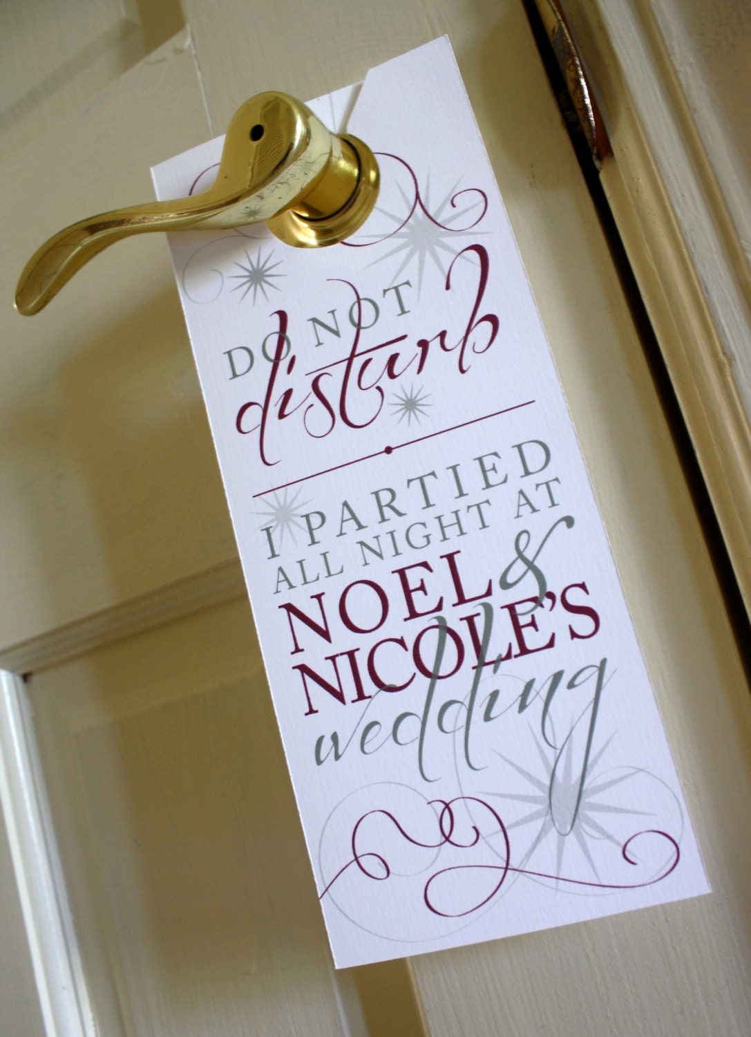 Hotel Door Hangers Template Hotel Wedding Door Hanger
