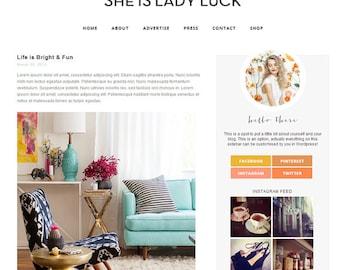 Wordpress Theme - Responsive Modern Design Blog - Lady Luck