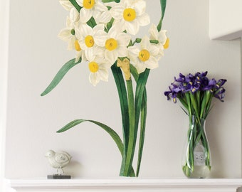45in Narcissus -Flower Wall Sticker Decal