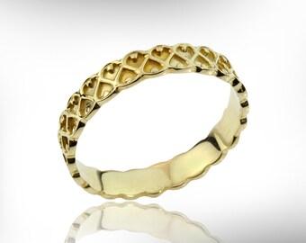 wedding rings women 14k 18k gold wedding ring for women stackable wedding band - Wedding Ring For Women
