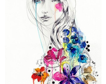 Lost // FASHION ILLUSTRATION // A3 Giclée print from original watercolour  by Holly Sharpe