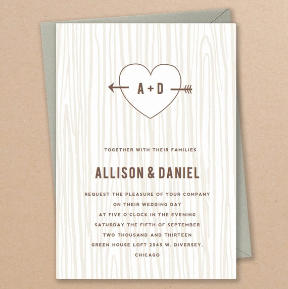 Printable Invitation Template INSTANT DOWNLOAD Initial