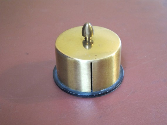 Vintage brass stamp dispenser