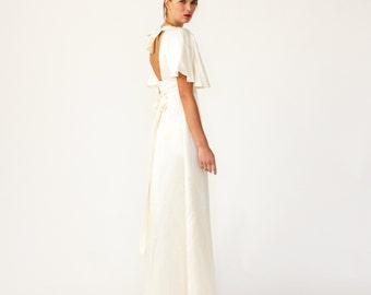 Lotus Eco Wedding dress - Minimalist resort / alternative wedding gown - Custom made