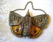 Emperor Moth Ceramic Wall Hanger.