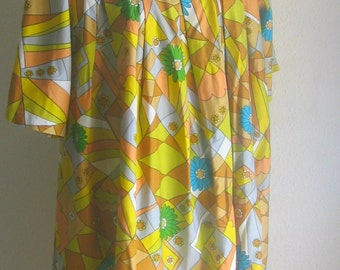 1960s 70s handmade tunic, vintage -psychedelic