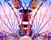 Fine Art Photography, 50% OFF PRINT SALE, Ferris Wheel, Color Photo, Carnival Art, State Fair, 8 x 12, Childrens Room Decor - Abstract Photo