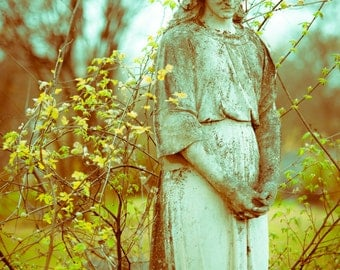 Cemetery Photography,Angel Statue, Fine Art Photography, Condolence Gift, Gothic Decor, Fine Art Print, Religious Decor, Angel, Wall Art