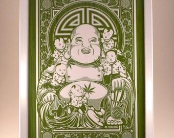 Minutia Buddha Rolling Tray - GREEN