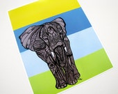 Elephant Zentangle Art Print