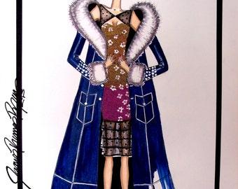 An American In Paris - Exclusive Original Fashion Illustration By James Thomas Ryan