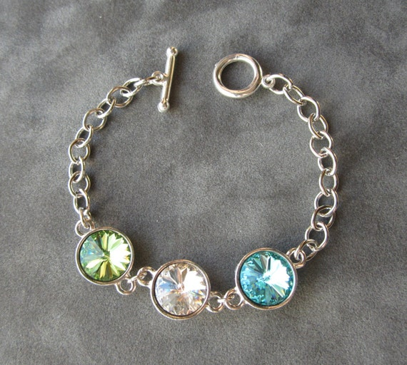 Mothers Charm Bracelet: Mother's Birthstone Bracelet Jewelry For Mom Mothers