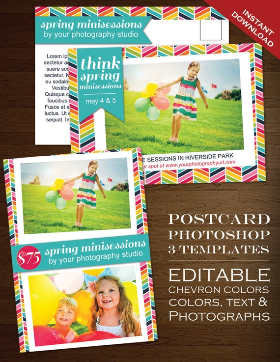 Postcard Template Photography Marketing Template rbc PSD