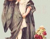 "Digital Download Maud Humphrey Bogart's ""Little Graduate"" Antique Die Cut Victorian Scrap Graphic Image"