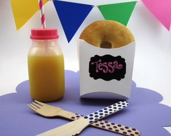 Pastry, French Fry Holder, with Chalk Board label, Popcorn holder, Kid's party, Carnival,
