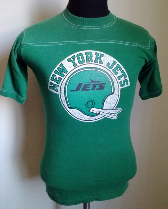 70s 80s vintage new york jets t shirt small by stranstarsbest