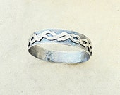 Sterling Silver Bangle Bracelet with Double Snake Helix