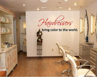 Large Salon DecalYoung Is Our Business H X - Custom vinyl wall decals for hair salon