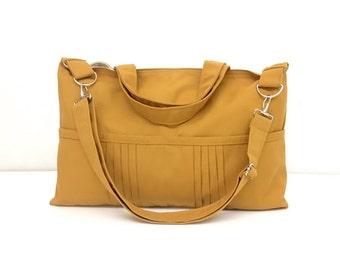 Women bag Handbags Canvas Bag Diaper bag Shoulder bag Hobo bag Tote bag Messenger bag Purse Handbag Everyday bag Mustard Amy