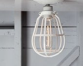 Industrial Cage Light - Ceiling Mount