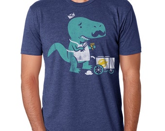 Mustache T Shirt, T-Rex T Shirt, Mens T Shirt, Movember Moustache T Shirt Available S M L XL XXL
