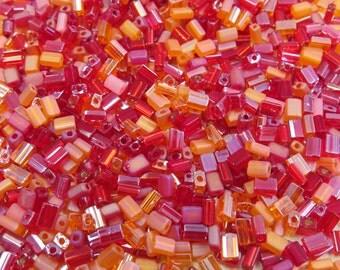 5x3mm Fruit Punch Mix Czech Glass Baby Pillow Beads 10 Grams (CS158)