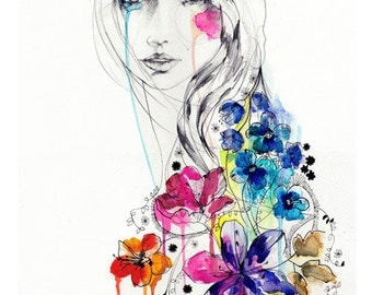 Lost // FASHION ILLUSTRATION // Giclée print from original watercolour  by Holly Sharpe