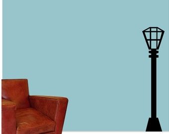 Lamp Post Wall Vinyl Decal - Old Time Lamp Post Wall Vinyl Sticker - Wall Decor