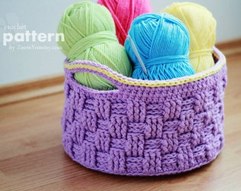 Crochet Pattern - Big Crochet Basket (Pattern No. 009) - INSTANT DIGITAL DOWNLOAD