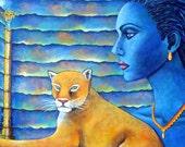 Lion Painting Original Fa...