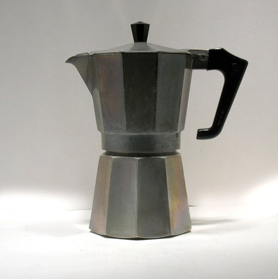 How To Use Vintage Coffee Maker : Vintage Espresso Maker Moka Pot Espresso Pot Stove Top