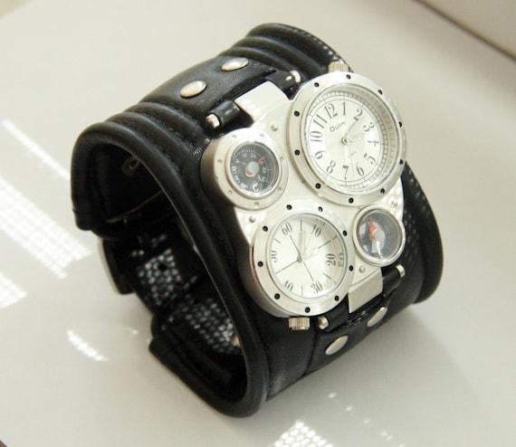 mens wrist leather bracelet pathfinder 2 by dganin