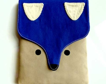 iPad Cover, iPad Sleeve, iPad Case, Tablet Cover, Tablet Sleeve, Tablet Case, FOX Pouch, Fox Case, Fox Cover, Fox Sleeve, ROYAL BLUE Color