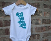 Chicago Love Screenprinted Baby bodysuit