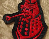 Red and Black Dalek Felt Patch Doctor Who Cosplay