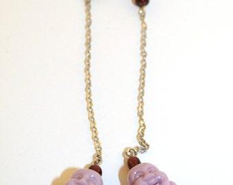Lavender Buddha Head Dangles