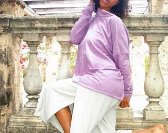 Hemp pants custom made and hand dyed // organic clothing // eco-friendly // hemp clothing // capri pants