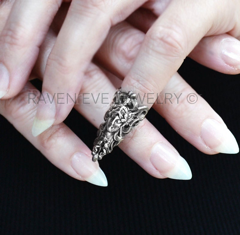 nail ring maiden armor ring nail jewelry antique