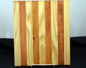 8x8 cutting board/chopping block trivet bread board butcher block made of many different woods. Made from  ash and cherry