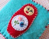 VENTE matriochka russe livre feutre aiguille poupée de nidification