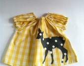 Yellow Check Deer Blouse